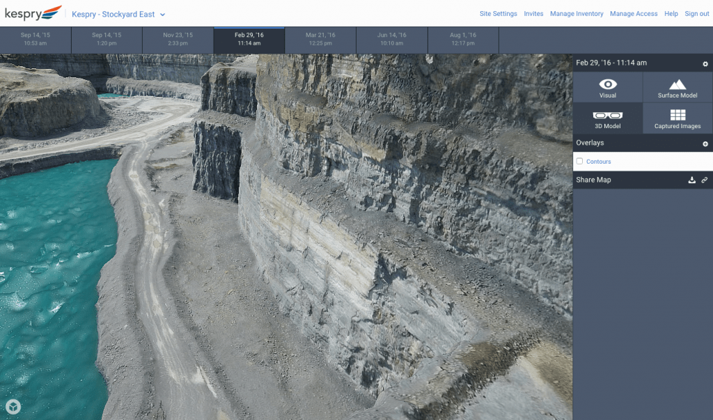 Kespry 3D Model Pit Mine Planning