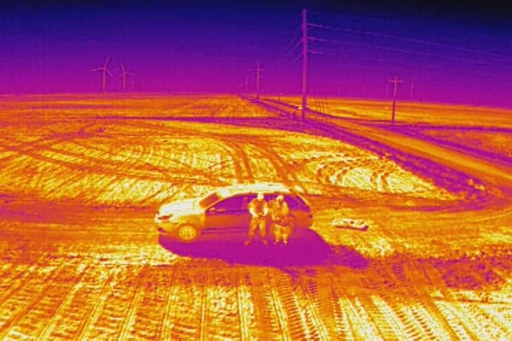 aerial thermography example