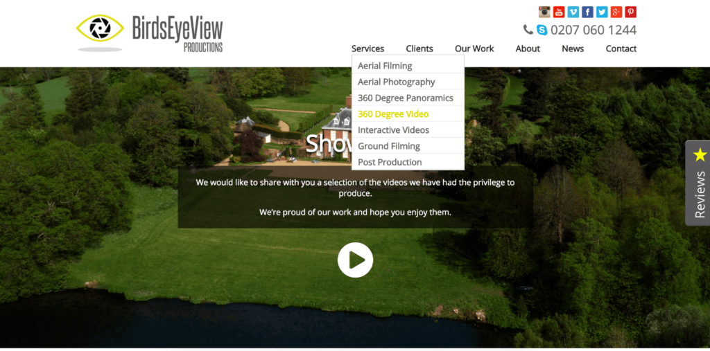 birds eye view productions uav business
