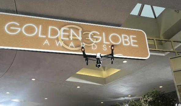 uav drone at golden globes