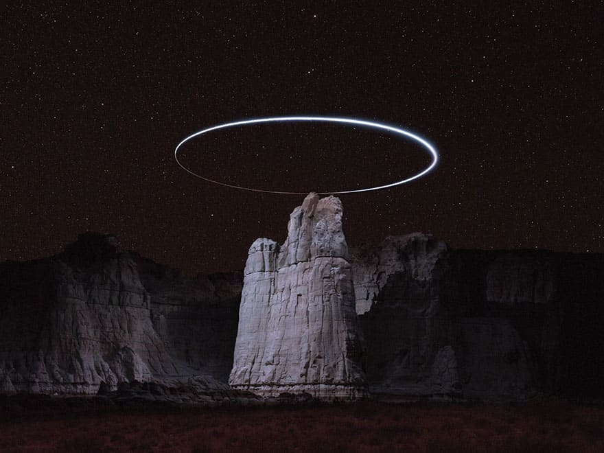 drone mountain halo light