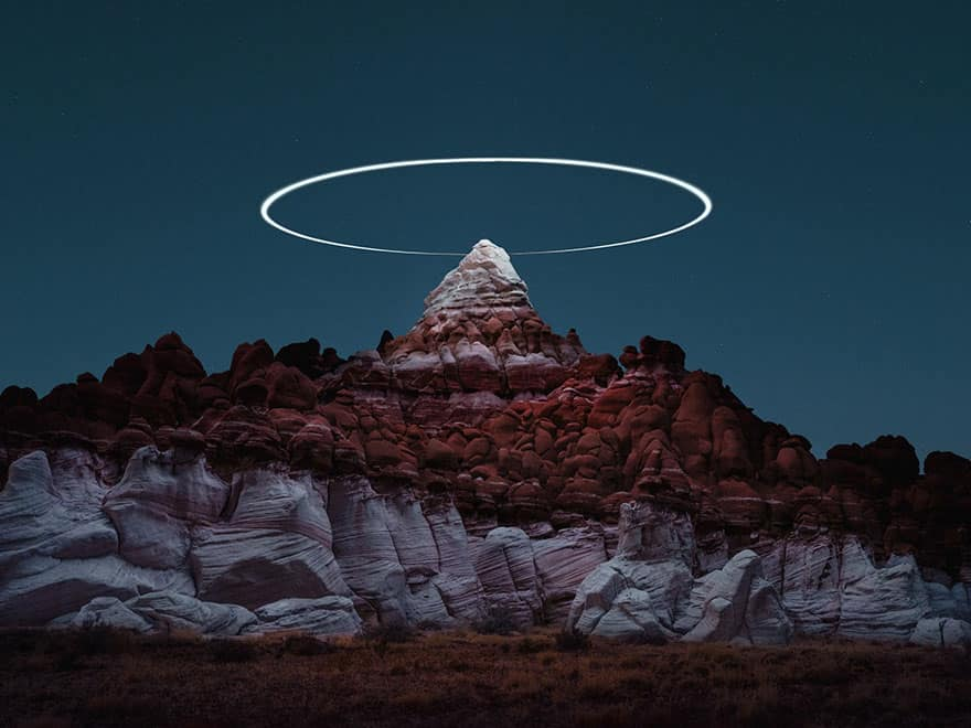 mountain halo drone