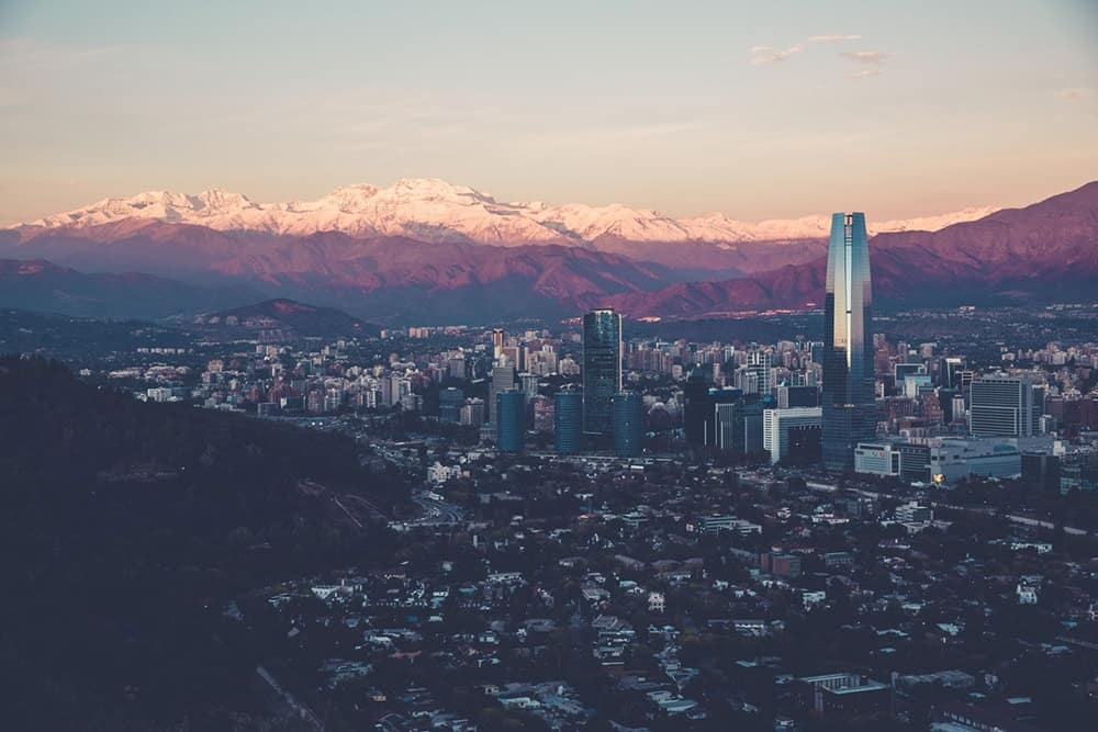 flying a drone in Chile