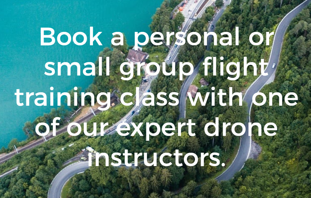 book in person drone training