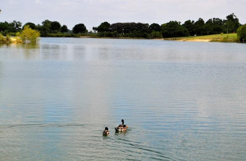 fly drone lake Houston