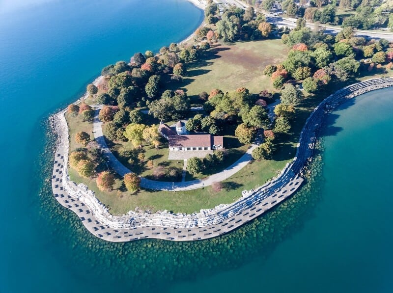 fly drone promontory point