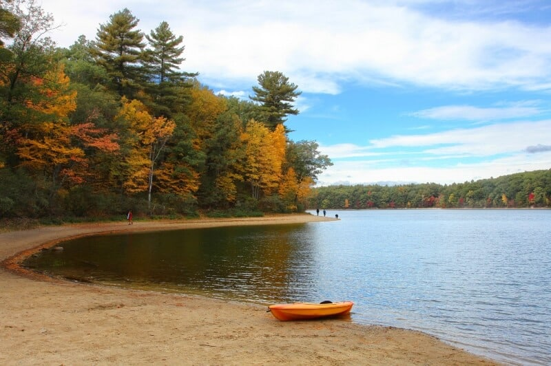 fly drone Walden Pond