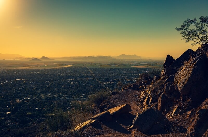 fly drone camelback mountain