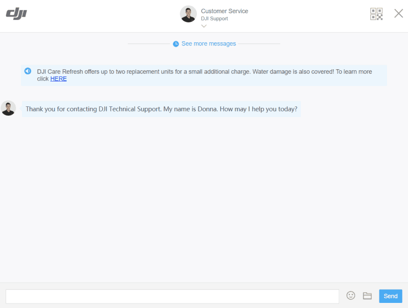 DJI Support Live Chat Step 5