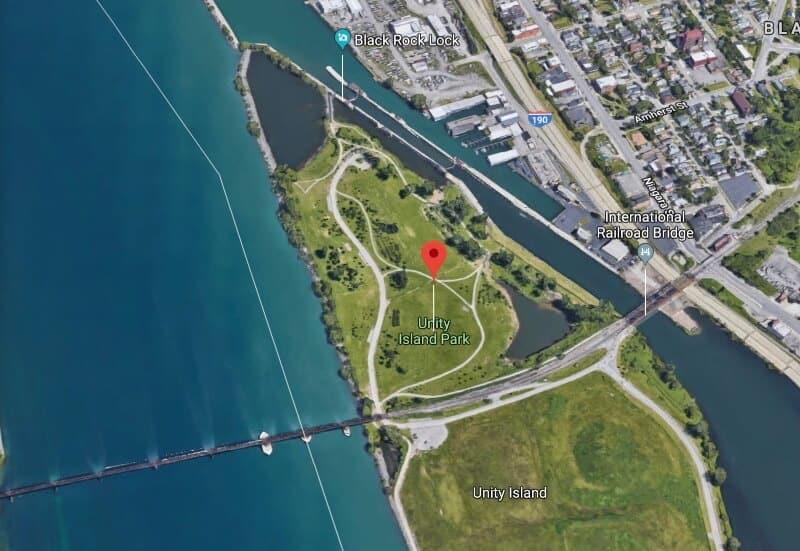 fly drone Unity Island Park