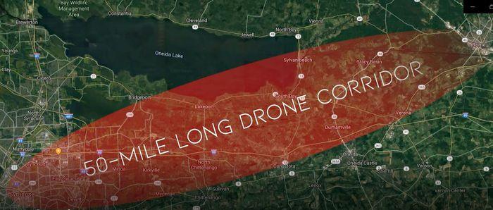 50 Mile Drone Corridor