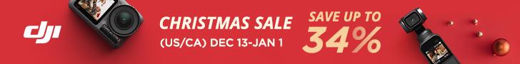DJI Christmas Sale Banner