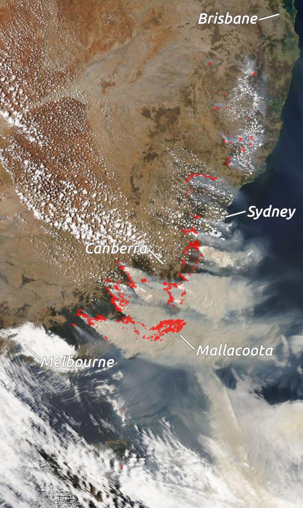 Australia Bushfires Satellite