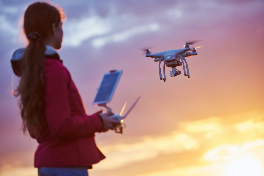 women in tech with drones