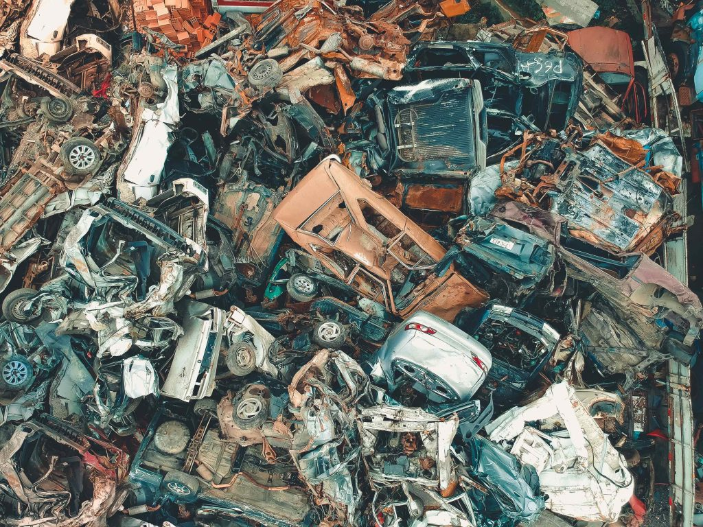 landfill from a drone