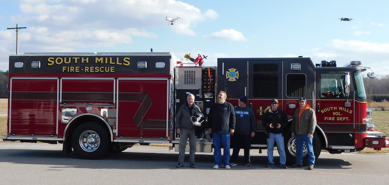 group drone training fire department